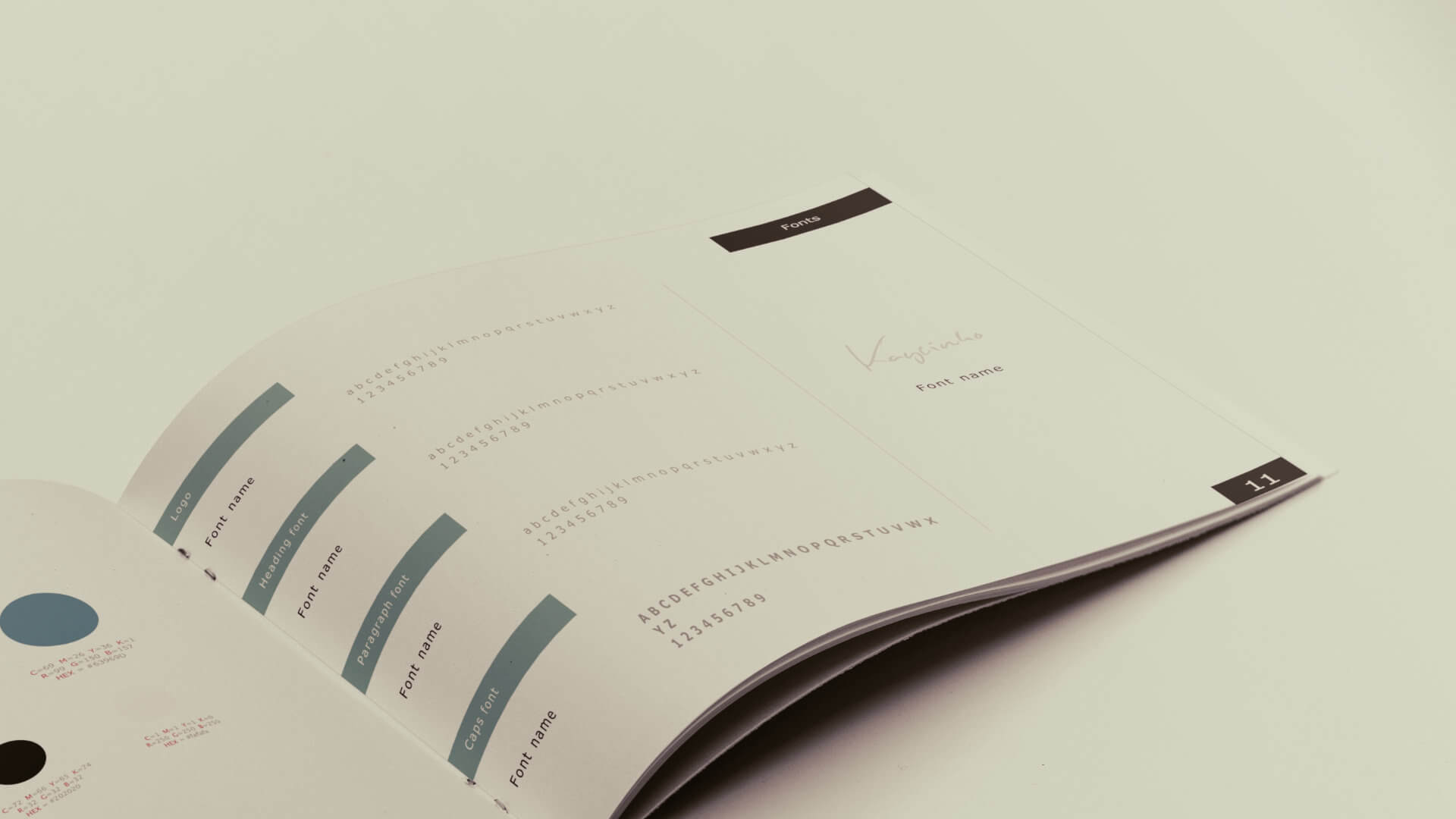 Brand guidelines template approach 2: use a simple yet effective template