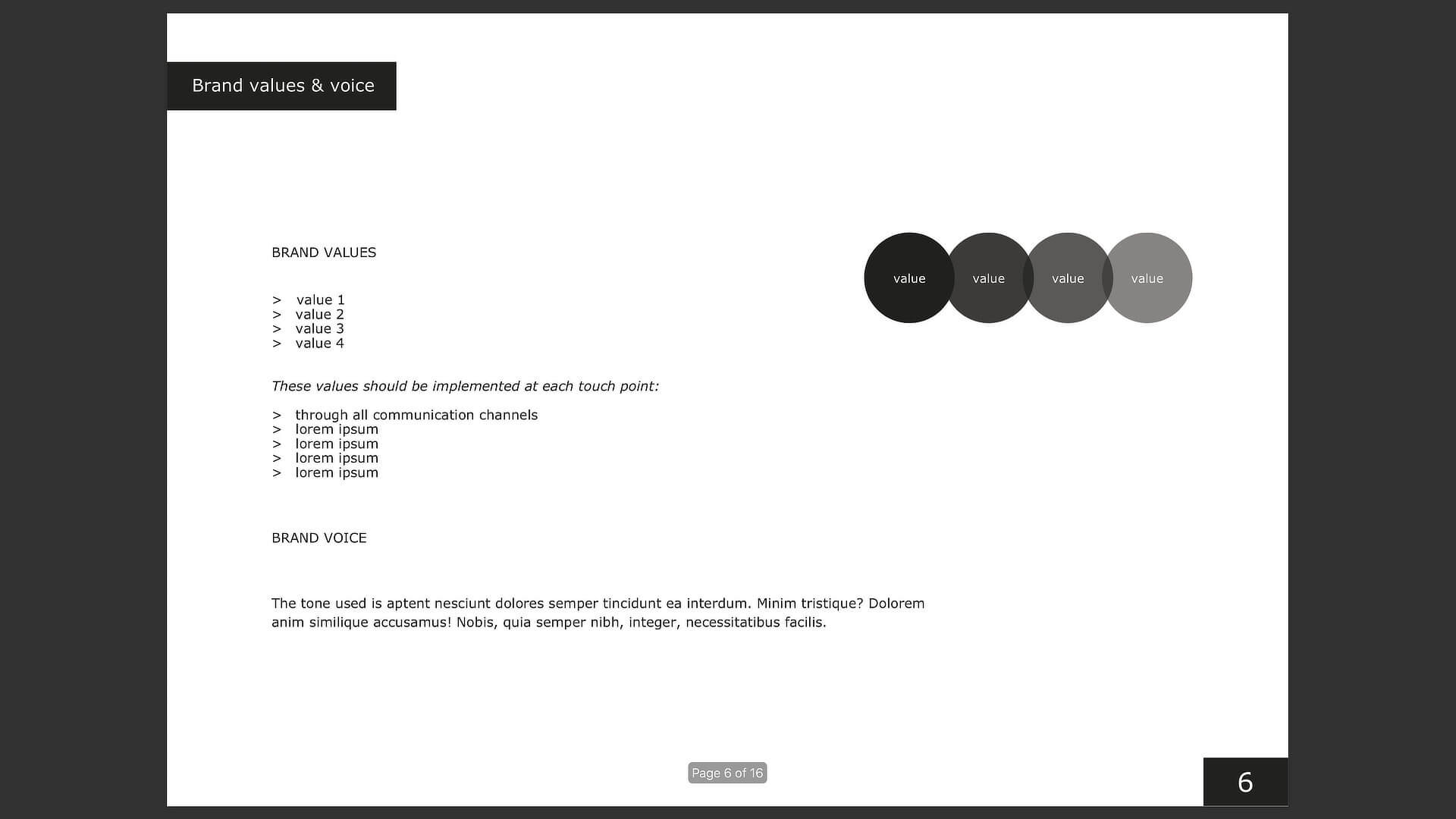 Brand guidelines template: step three