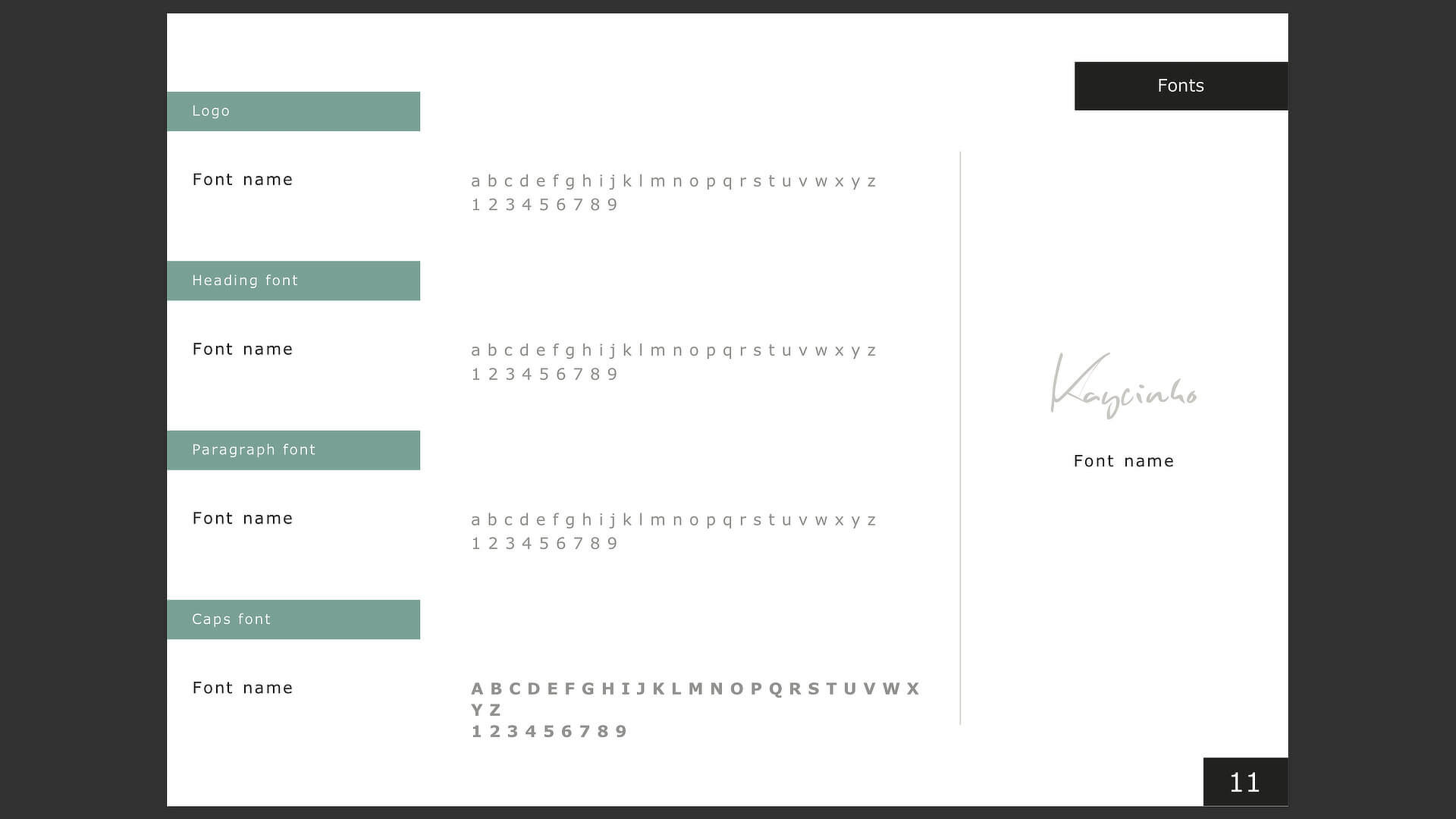 Brand guidelines template: step eight