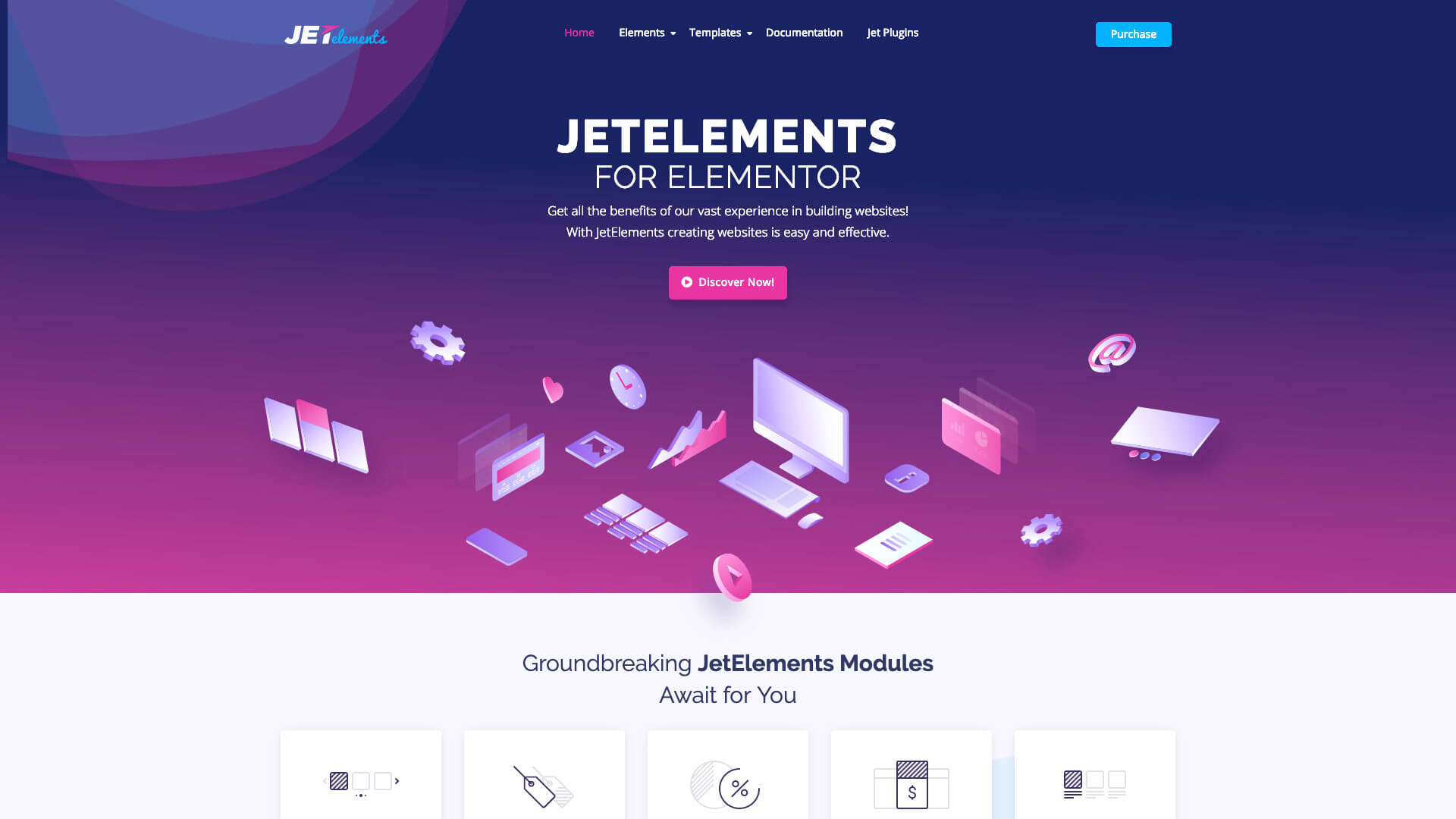 How To Add Parallax Effect In Elementor: 2 - JetElements