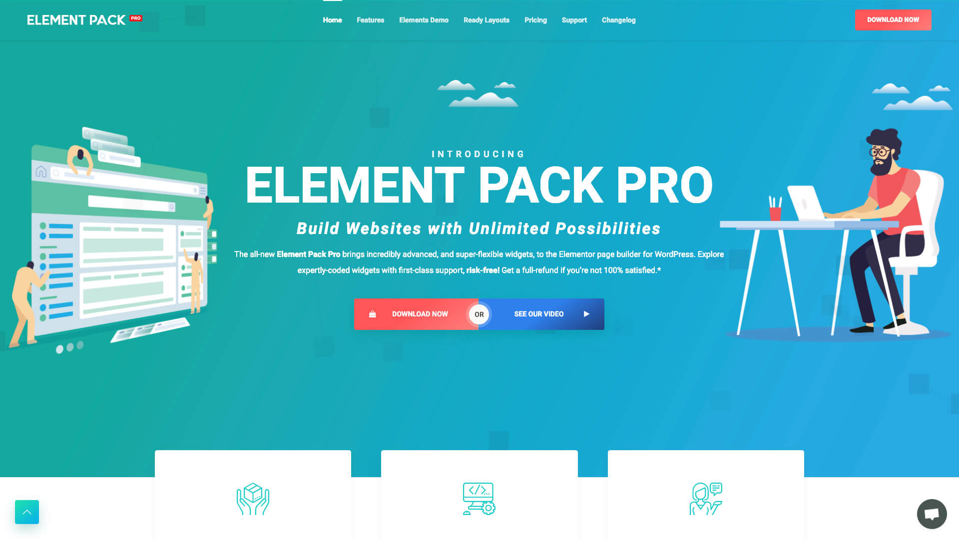 How To Add Parallax Effect In Elementor: 3 - Element Pack Pro